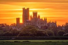 The sun sets on Ely Cathedral in Cambridgeshire after a warm day, and it will get warmer Upside Down House, Ely Cathedral, Bletchley Park, City Scene, Rural Area, England Uk, Great View, More Pictures, Holiday Travel