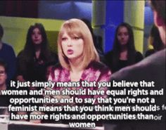 When she summed up why everyone should be a feminist. | 21 Times Taylor Swift Was The Agony Aunt You Needed