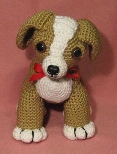 PDF CROCHET PATTERN - Candy The Sweet Amigurumi Puppy | CraftsByAP - Crochet on ArtFire