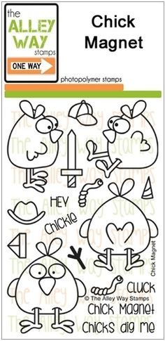The Alley Way Clear Stamps CHICK MAGNET zoom image