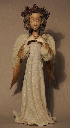 """Купить кукла """"Задумчивый ангел"""" - сувенирная кукла, сувениры и подарки, авторская работа, ручная работа"""