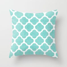 Buy teal clover by Her art as a high quality Throw Pillow. Worldwide shipping available at Society6.com. Just one of millions of products available.