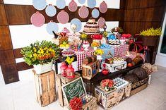 caixotes para decoração de chá de panela - Pesquisa Google
