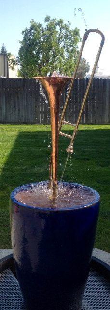Trombone Fountain in Royal Blue. $675.00, via Etsy.