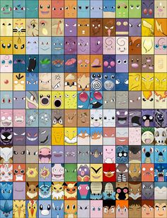 Best Pokemon Poster! (minus the faces of ash, misty, Brock, Gary and prof oak…