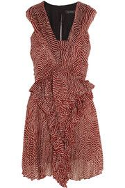 Isabel Marant Macy printed silk-chiffon mini dress