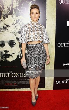 Zulay Henao arrives at the Los Angeles Premiere of 'The Quiet Ones' held at The Theatre at Ace Hotel on April 22, 2014 in Los Angeles, California.