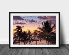 Palm Tree Print, Palm Trees, Sunset Photos, Prints For Sale, Digital Prints, Coastal, Hawaii, My Etsy Shop, Tropical
