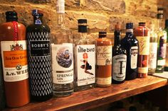 At any one time, about 60 varieties of gin can be found at 214 Bermondsey.