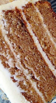 Spice Cake with Caramel Cream Cheese Frosting - Mom, Mariah, Blake, Lex No Bake Desserts, Just Desserts, Delicious Desserts, Dessert Recipes, Yummy Food, Spice Cake Recipes, Frosting Recipes, Eat Dessert First, Homemade Cakes