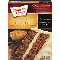 Boxed carrot cake recipes