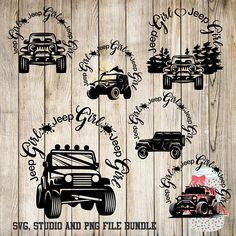 Jeep Girl Bundle -SVG, Silhouette studio and png bundle -  6 design downloads