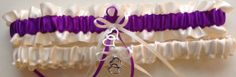 On Sale Ivory and Purple Wedding Garter by WeddingGarterStore, $15.19