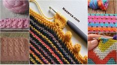 Full 50 Grain Knitting Crochet Vests- You can see almost all of the examples you see here. For Knitting Patterns and Crochet Samples. Baby Knitting Patterns, Crochet Flower Patterns, Knitting Stitches, Knitting Needles, Crochet Baby, Knit Crochet, Crochet Vests, Knitting Videos, Crochet Shoes
