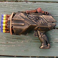 Steampunk Victorian TESLA Gun soft dart  ZOMBIE killer---- Multibarrelmadness. $34.99, via Etsy.