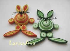 Fairy tale about quilling: Ideas for Easter!!!
