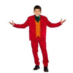 Red Crime Prince αποκριάτικη στολή για αγόρια. Η στολή του Τζόκερ αποτελείται από τo: κόκκινο Σακάκι, το κόκκινο Παντελόνι,  γιλέκο μπλαστρόν. Οπλιστείτε με το χαιρέκακο χαμόγελο και εμπλουτίστε τη στολή με τα αξεσουάρ που δεν περιλαμβάνονται όπως την περούκα. Απογειώστε τη στολή σας με ένα καταπληκτικό μακιγιάζ. Η στολή του κλόουν Τιμωρού είναι διαθέσιμη για  παιδιά ηλικίας έως 12 ετών. Red Suit, Crime, Suits, Style, Fashion, Swag, Moda, Red Tuxedo, Fashion Styles