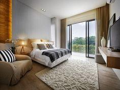 bentuk karpet kamar tidur utama minimalis