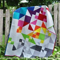 Falling Blocks Quilt Pattern