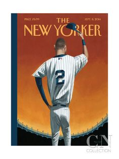 Derek Jeter Honored With 'New Yorker' Cover. -The New Yorker The New Yorker, New Yorker Covers, Derek Jeter, New York Yankees, Cool Magazine, Magazine Covers, Magazine Art, Magazine Layouts, Print Magazine
