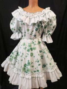 IRISH SWING square dance dress  green leaf  by johnnybombshell, $30.00