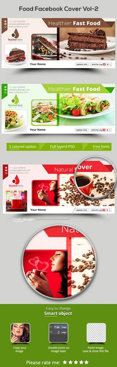Food Facebook Cover Vol-2 by themexriver on @creativemarket