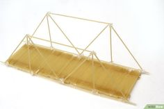How to Build a Spaghetti Bridge. Dry spaghetti is very brittle and breaks easily, but by gluing the strands together to create different shapes, you can make a model bridge that can hold a surprising amount of weight. Spaghetti Bridge, Science Projects, Science Lessons, School Projects, School Ideas, Food Tech, Making A Model, Summer Reading Program, Glue Crafts