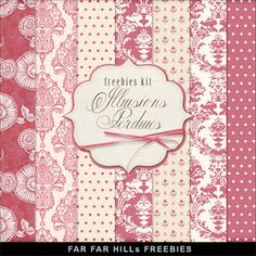 Far Far Hill - Free database of digital illustrations and papers: New Freebies Kit of Backgrounds - Illusions Perdue...