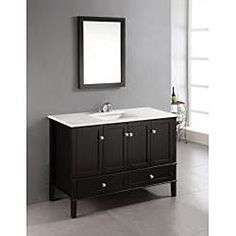 Wyndenhall Windham 2-door 48-inch Bath Vanity Set with Bottom Drawer and White Quartz Marble Top