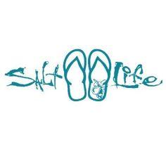 Salt Life Signature Sandal Decal (Teal;Medium ( 12)