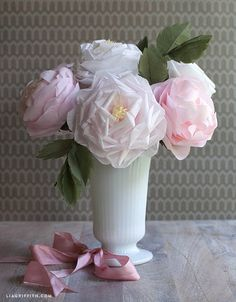 109 best how to make paper flowers paper crafts images on pinterest diy blooming tissue paper roses mightylinksfo