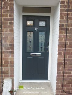 anthracite-grey-solidor-timber-composite-door More great examples of fitted Solidor Composite doors by Timber Composite Doors, all available as for both DIY and Fully professionally fitted, design yours now online for free at the link below Main Entrance Door Design, Entrance Doors, Front Doors With Windows, Grey Windows, Gray Front Door Colors, Composite Front Door, Cottage Door, House Front Door, External Doors