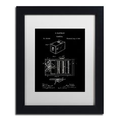 'George Eastman Camera Patent Black' by Claire Doherty Giclée Framed Graphic Art