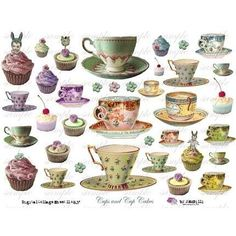 Free Printable Collage Sheets | cUps aNd CupCaKeS Digital Collage Sheet no 170 by Itkupilli | ThisNext