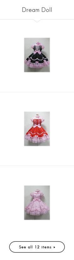 """Dream Doll"" by ghiraham-sandwich ❤ liked on Polyvore featuring angelic pretty, lolita, one piece, lullabies, dresses, op, jsk, jumper skirt, skirts and baby doll skirt"