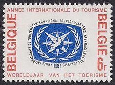 international postage stamps | Belgium Stamp, 1967 – International Tourist Year