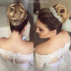 10 Most Amazing Wedding Hairstyles To Look Stunning During Your Weddings Hairdo Wedding, Bridal Updo, Wedding Hair Pieces, Bride Hairstyles, Hairstyles Haircuts, Bridal Hair And Makeup, Hair Makeup, Hair Up Styles, Braids For Long Hair