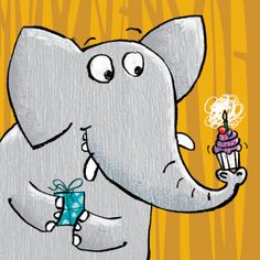 elephant birthday - illustration by Paul Cherrill