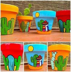 Learn how to make a very creative painting in handmade vases in your home, and . - Learn how to make a very creative painting in handmade vases in your home, and with that create bea - Flower Pot Art, Flower Pot Design, Flower Pot Crafts, Clay Pot Crafts, Painted Plant Pots, Painted Flower Pots, Pots D'argile, Decorated Flower Pots, Painting Vases