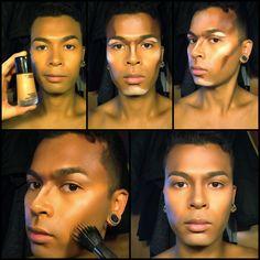 Male contour tutorial Instagram: @davidyubeauty Portland, OR