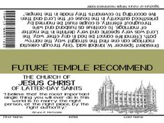 YW Lesson Handout - August Come Follow Me - Temple Recommend - Temple Marriage  www.facebook.com/sublimeprintables  FREE DOWNLOAD!!