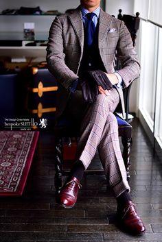 革靴,宮城興業,和創良靴,オーダー靴,バーガンディ,コードバン,ES,ラウンドトゥ,プリンス・オブ・ウェールズ,グレンチェック,ポーターアンドハーディング,PORTER&HARDING,GLENROYAL,グレンロイヤル,英国,トーマスメイソン,デンツ,革手袋,DENTS,誂え,コーディネート,ワードローブ,紳士,オーダーメイド,福岡,八幡西区,黒崎,北九州,ビスポークスーツ110,bespokeSUIT110,bespokeSUITIIO,