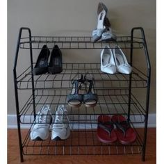 I have this hidden in my front hall closet. It's perfect for soccer shoes, tennis shoes, etc.