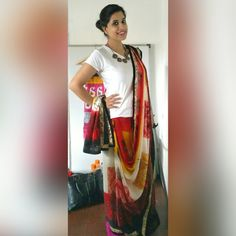 Me in a #Sari! #Indian #dusky #ethnic #ethnicwear #print #draping #India #fashion #beauty #fashionblogger #fashionista #blogger #clothing #dressing