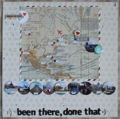 lori smith Paperie march 2014 scrapbook kit-been there done that