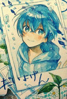 Anime Chibi, Kawaii Anime, Manga Watercolor, Watercolor Artwork, Anime Character Drawing, Cute Anime Character, Kunst Inspo, Art Inspo, Anime Drawings Sketches
