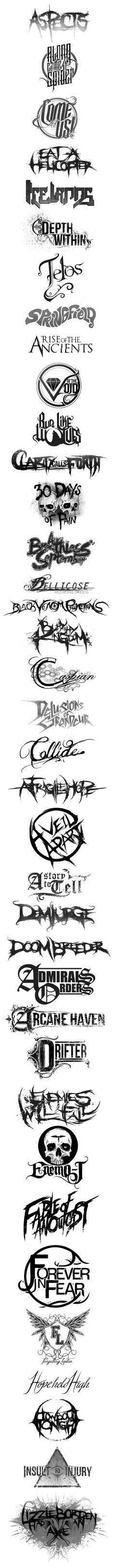 Band logo's (part 1) on Behance
