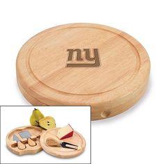 New York Giants Brie Cheese Board Set