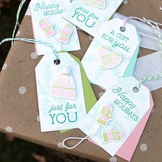 Layered Woolens Tags by Lizzie Jones for Papertrey Ink (November 2017)