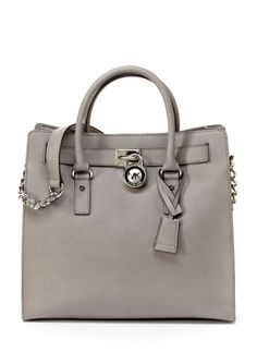 MICHAEL Michael Kors Hamilton N/S Tote with Silver Hardware